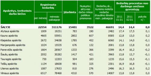 darbo biržos statistika